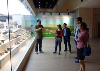 河南省审计厅政研室调研员侯雪珍等调研安阳博物馆